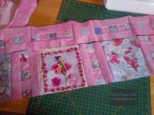 fairy fabric quilt coming together