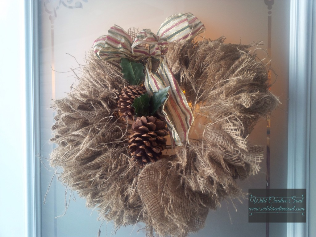 Christmas Wreath , burlap
