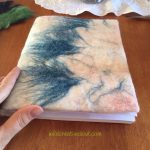 Wet felted journal cover