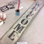 Painting wood signs