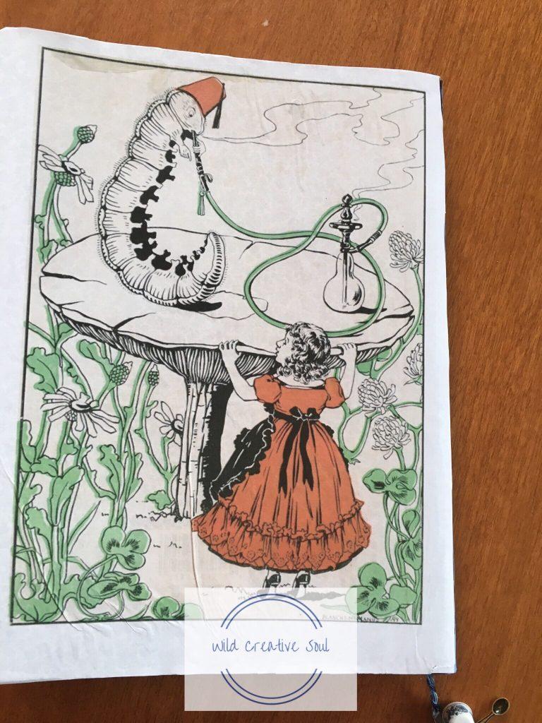 Back of Alice in Wonderland Journal