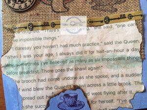 Alic in Wonderland Journal quote