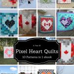 Ebook 10 pixel heart Quilts