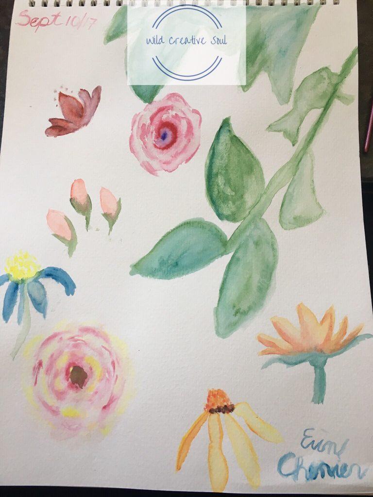Watercolour creativity challenge by Wild Creative Soul